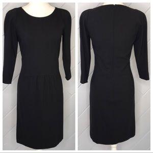 {Boss} Hugo Boss Wool Sheath Dress 3/4 Sleeve